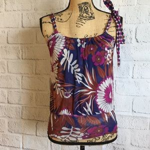 Anthropology Floral Tank